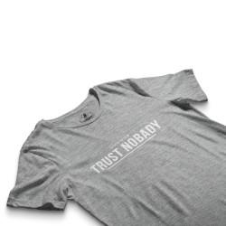 HH - Trust Nobady 2 Gri T-shirt - Thumbnail