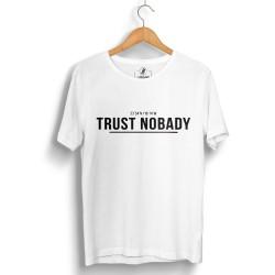 HH - Trust Nobady 2 Beyaz T-shirt - Thumbnail