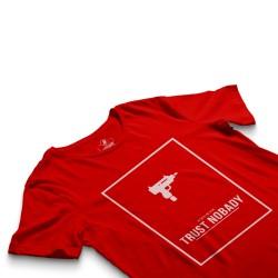 HH - Trust Nobady Kırmızı T-shirt - Thumbnail
