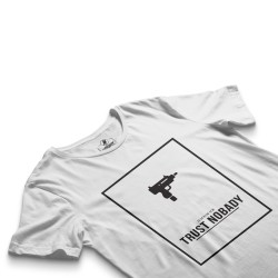 HH - Trust Nobady Beyaz T-shirt - Thumbnail