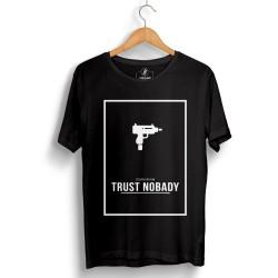 HH - Trust Nobady Siyah T-shirt - Thumbnail