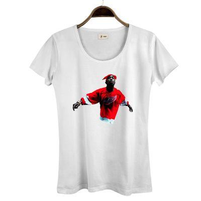 HH - Tupac Red Style Kadın Beyaz T-shirt