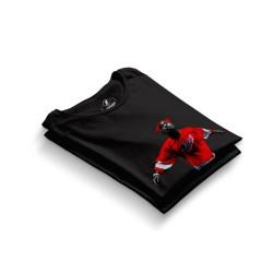HH - Tupac Red Style Siyah T-shirt - Thumbnail