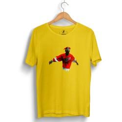 HH - Tupac Red Style Sarı T-shirt - Thumbnail
