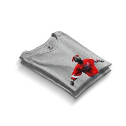 HH - Tupac Red Style Gri T-shirt - Thumbnail