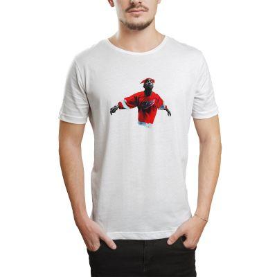 HH - Tupac Red Style Beyaz T-shirt