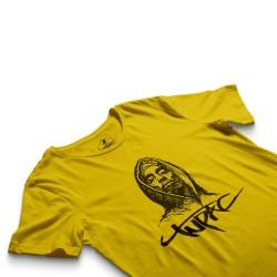 HH - Tupac Portre Sarı T-shirt - Thumbnail