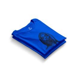 HH - Tupac Portre Mavi T-shirt - Thumbnail