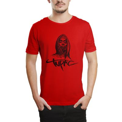 HH - Tupac Portre Kırmızı T-shirt