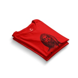 HH - Tupac Portre Kırmızı T-shirt - Thumbnail