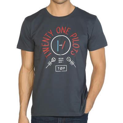 Bant Giyim - Twenty One Pilots Blurryface Füme T-shirt