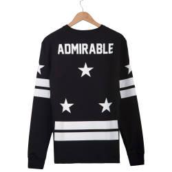 Two Bucks - Admirable Siyah Sweatshirt - Thumbnail