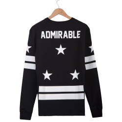Two Bucks - Admirable Siyah Sweatshirt - Thumbnail