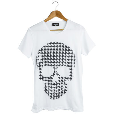 Two Bucks - Dots Skull Beyaz T-shirt