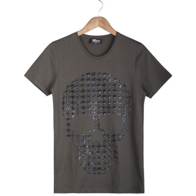 Two Bucks - Two Bucks - Dots Skull Haki T-shirt