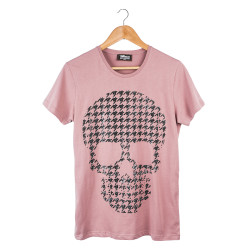 Two Bucks - Two Bucks - Dots Skull Pembe T-shirt