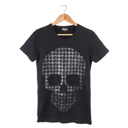 Two Bucks - Two Bucks - Dots Skull Siyah T-shirt