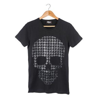 Two Bucks - Dots Skull Siyah T-shirt