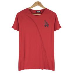 Two Bucks - Two Bucks - LA Baskılı Kırmızı T-shirt