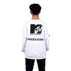 Two Bucks - Two Bucks - MTV Oversize Beyaz Sweatshirt