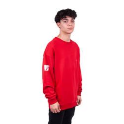Two Bucks - MTV Oversize Kırmızı Sweatshirt - Thumbnail