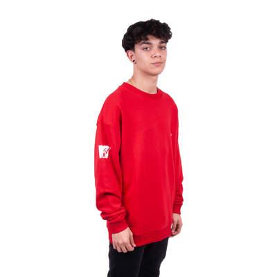 Two Bucks - MTV Oversize Kırmızı Sweatshirt