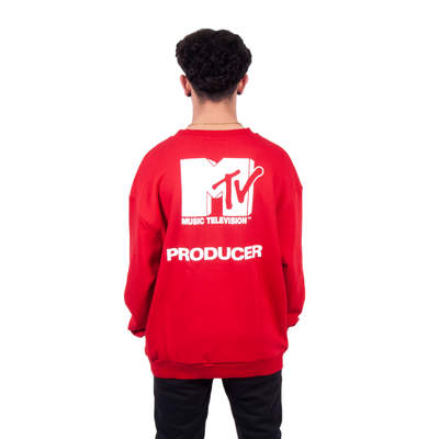 Two Bucks - Two Bucks - MTV Oversize Kırmızı Sweatshirt