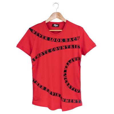 Two Bucks - Never Look Back Kırmızı T-shirt