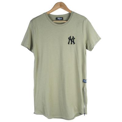 Two Bucks - NY Nakışlı Haki T-shirt