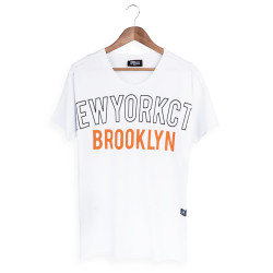 Two Bucks - NYC Brooklyn Beyaz T-shirt - Thumbnail