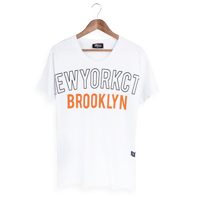 Two Bucks - NYC Brooklyn Beyaz T-shirt