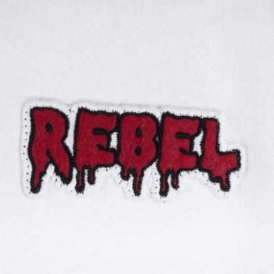 Two Bucks - Play Hard Rebel Beyaz T-shirt