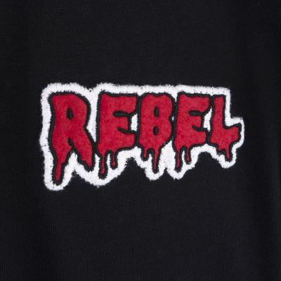 Two Bucks - Play Hard Rebel Siyah T-shirt