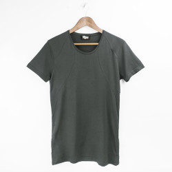 Two Bucks - Side Zip Haki T-shirt - Thumbnail