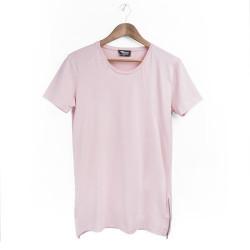 Two Bucks - Side Zip Pembe T-shirt - Thumbnail