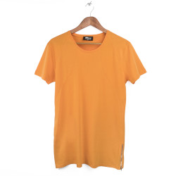 Two Bucks - Side Zip Turuncu T-shirt - Thumbnail