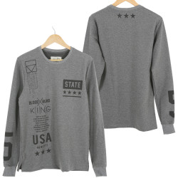 Two Bucks - State Antrasit Sweatshirt - Thumbnail