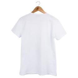 Two Bucks - The Guitarist Skeleton Beyaz T-shirt - Thumbnail