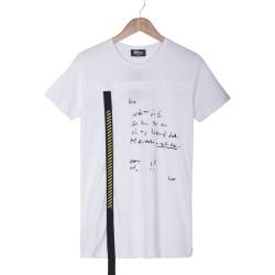 Two Bucks - Two Bucks - Two Bucks Letter Beyaz T-shirt