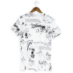 Two Bucks - Urban Graffiti Beyaz T-shirt - Thumbnail