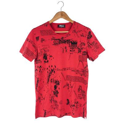 Two Bucks - Urban Graffiti Kırmızı T-shirt