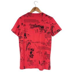 Two Bucks - Urban Graffiti Kırmızı T-shirt - Thumbnail