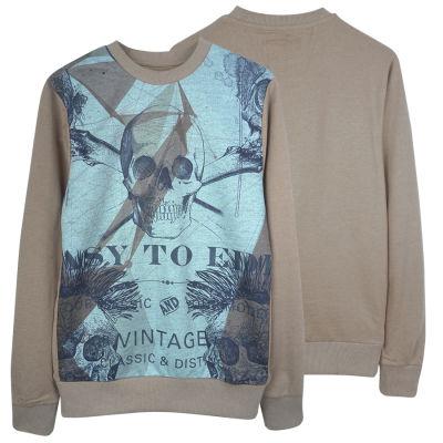 Two Bucks - Vintage Skull Bej Sweatshirt