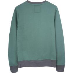 Two Bucks - Vintage Skull Yeşil Sweatshirt - Thumbnail