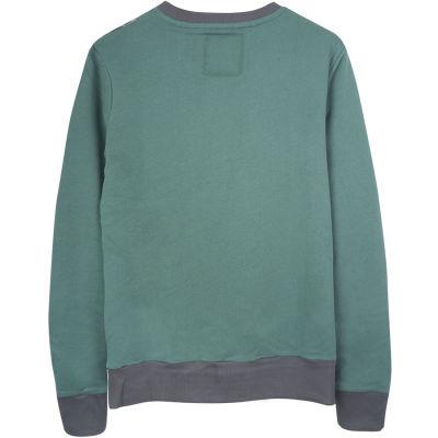 Two Bucks - Vintage Skull Yeşil Sweatshirt