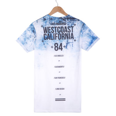West Coast California Beyaz & Mavi T-shirt