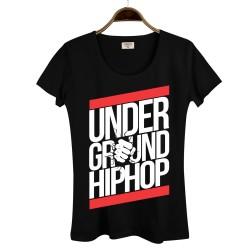 HollyHood - HollyHood - Underground HipHop Kadın Siyah T-shirt