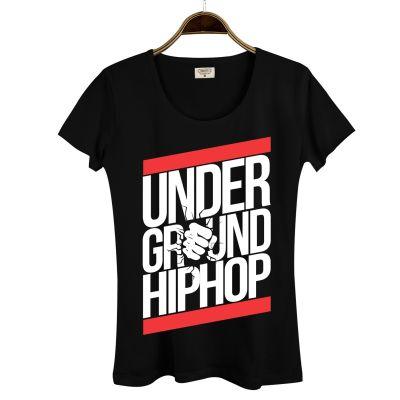 HH - Underground HipHop Kadın Siyah T-shirt