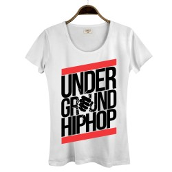 HollyHood - HollyHood - Underground HipHop Kadın Beyaz T-shirt