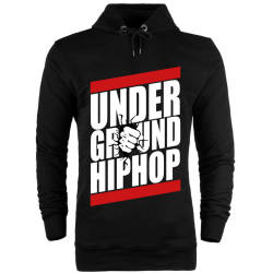 HH - Under Ground HipHop Cepsiz Hoodie - Thumbnail